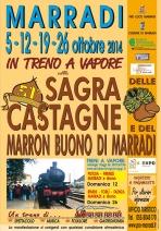 Locandina Sagra delle Castagne e del Marron Buono di Marradi